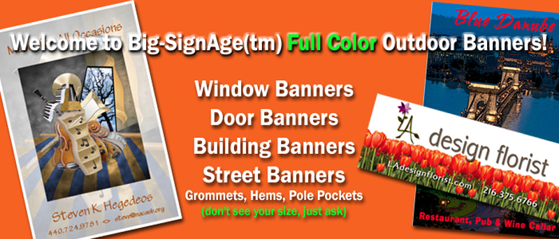 Big SignAge™ full color outdoor banners