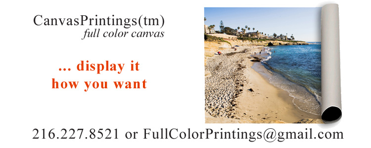 CanvasPrintings™ full color canvas