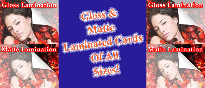 Gloss matte Kontrast™ laminated cards