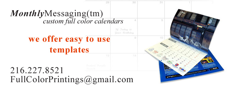 MonthlyMessaging™ full color calendars