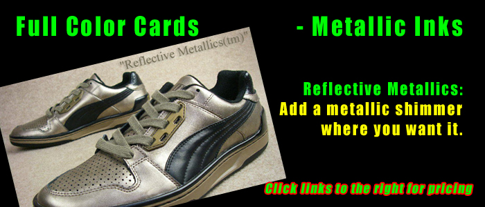 ReflectiveMetallics™ full color club cards