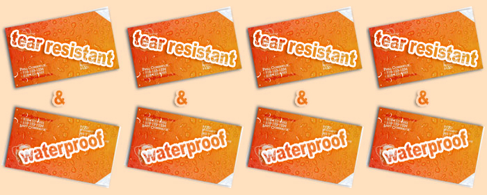 ULTRA™ waterproof tearproof cards
