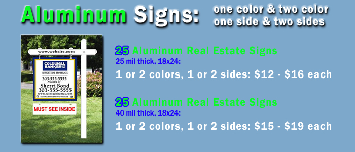full color aluminum signs