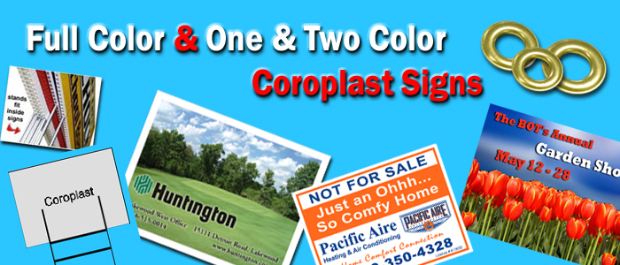 full color coroplast signs