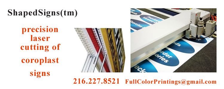 full color die cut coroplast