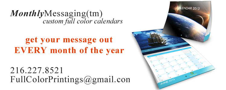 full color discount calendars