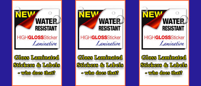 full color enhance gloss laminated stickers