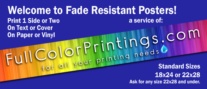 full color fade resistant posters