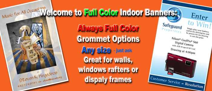 full color indoor banners