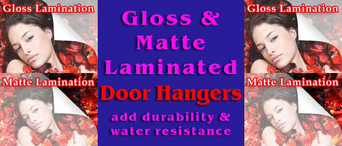 full color laminated door hangers